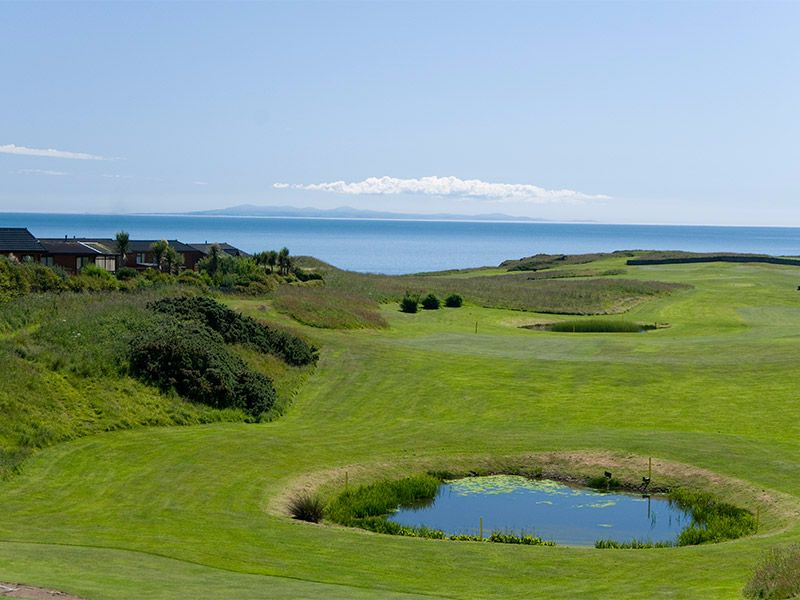 A welcome double whammy…. Great golfing and spectacular views.