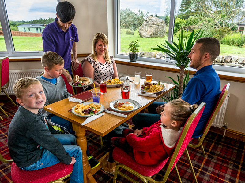 Try our tasty bar meals in our family bar lounge