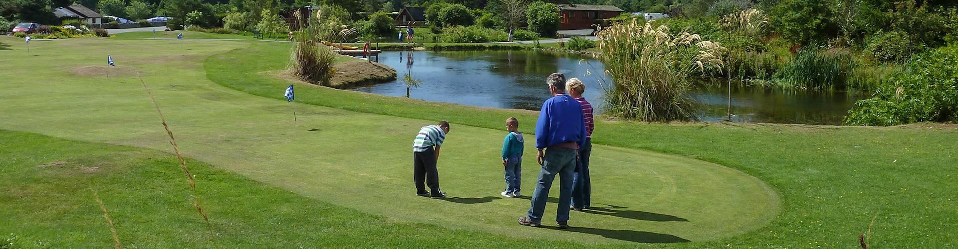 Mini golf at Brighouse Bay Holiday Park