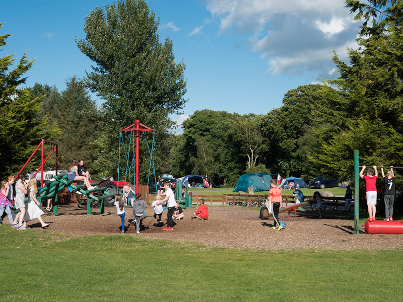 We have two outdoor children's play areas for the kids to enjoy