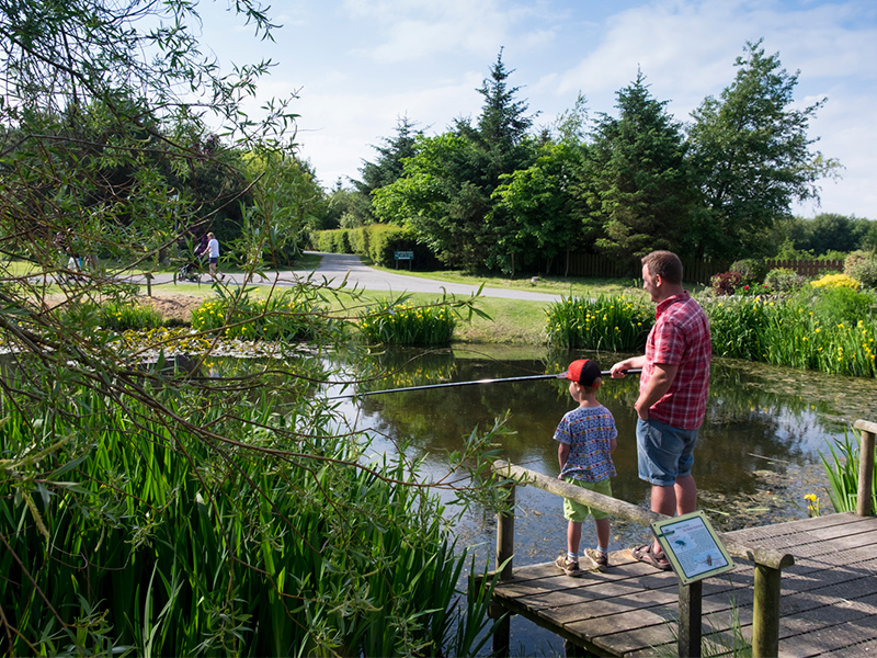 Enjoy the relaxation of coarse fishing at one of our five ponds.