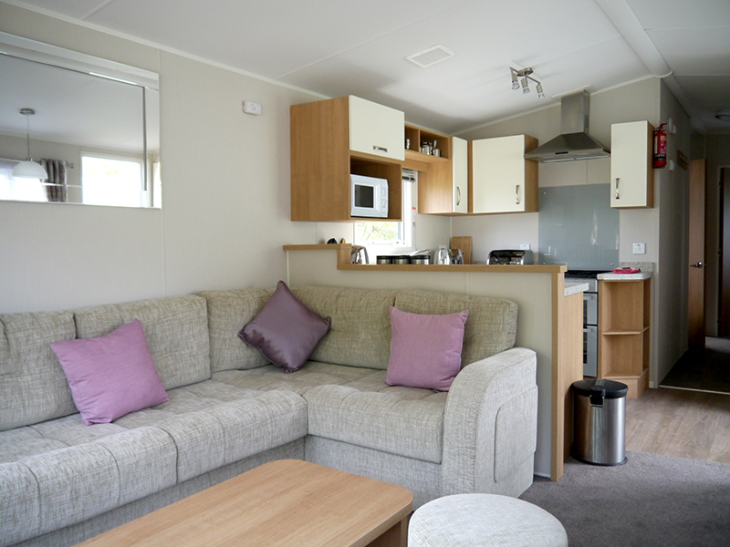 Open plan kitchen, dining and lounge area